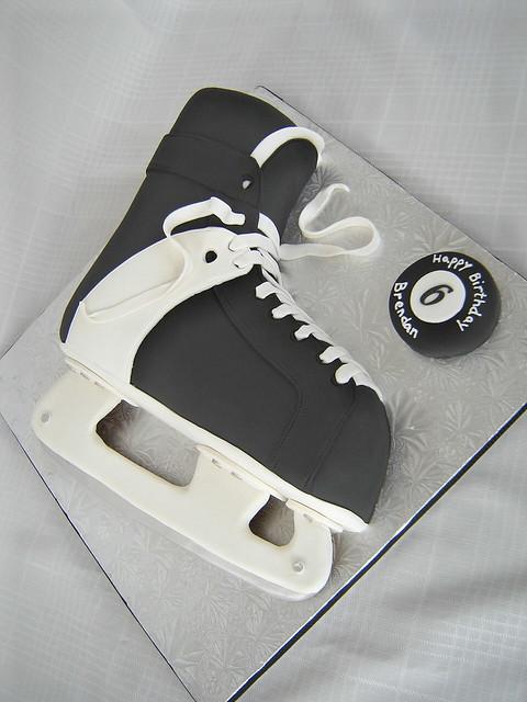 Hockey Skate Cake