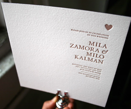 Amici letterpress wedding invitations - Bella Figura