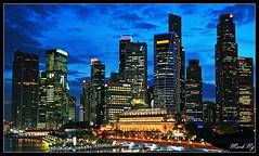 City Lights & Deep Blue Skies