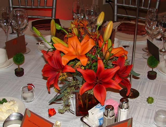 Fall lily centerpiece flickr photo sharing