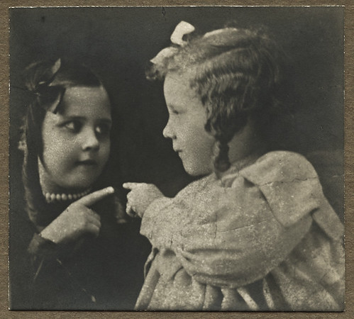 Artistic Portrait of Two Young Girls