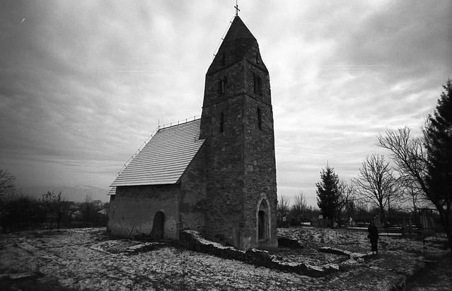 The Church in Strei in winter