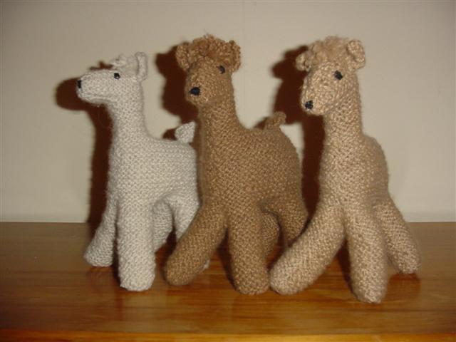 Hand spun knitted alpaca toys I spun the fleece of three d? Flickr - Phot...