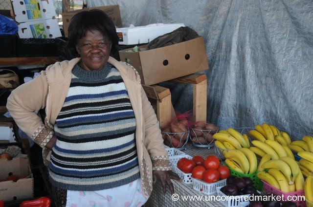 Kenyan Vendor at Jacksonville Market, Florida