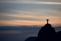 Christ Redeemer at sunset