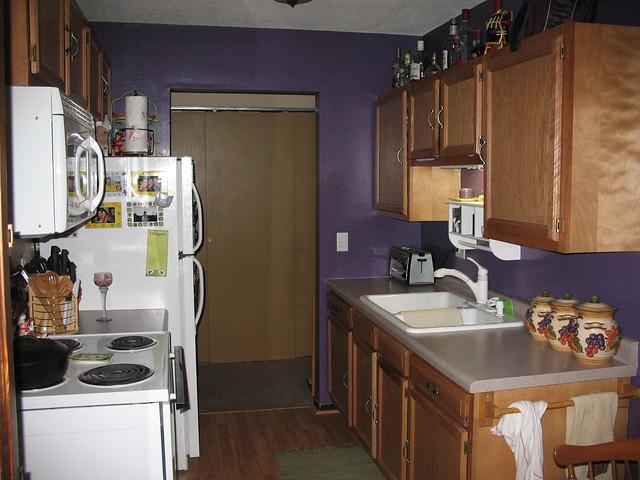Small Purple Kitchen Ideas