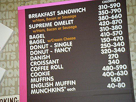 Dunkin Donuts Menu Labels Flickr Photo Sharing