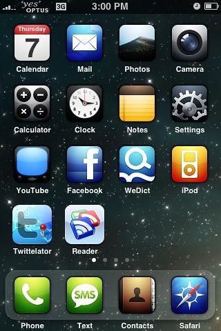 Illuminous iPhone theme