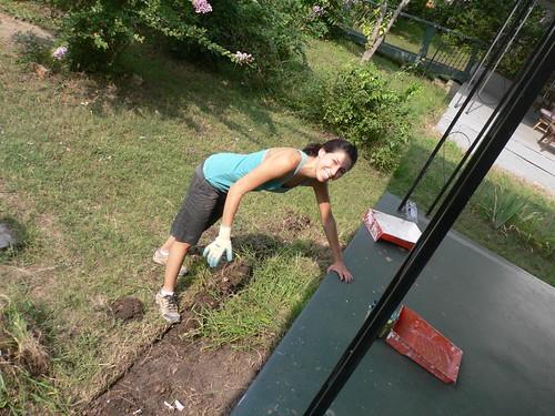 Heather's a weeding machine