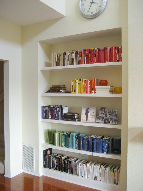 the living room bookcase