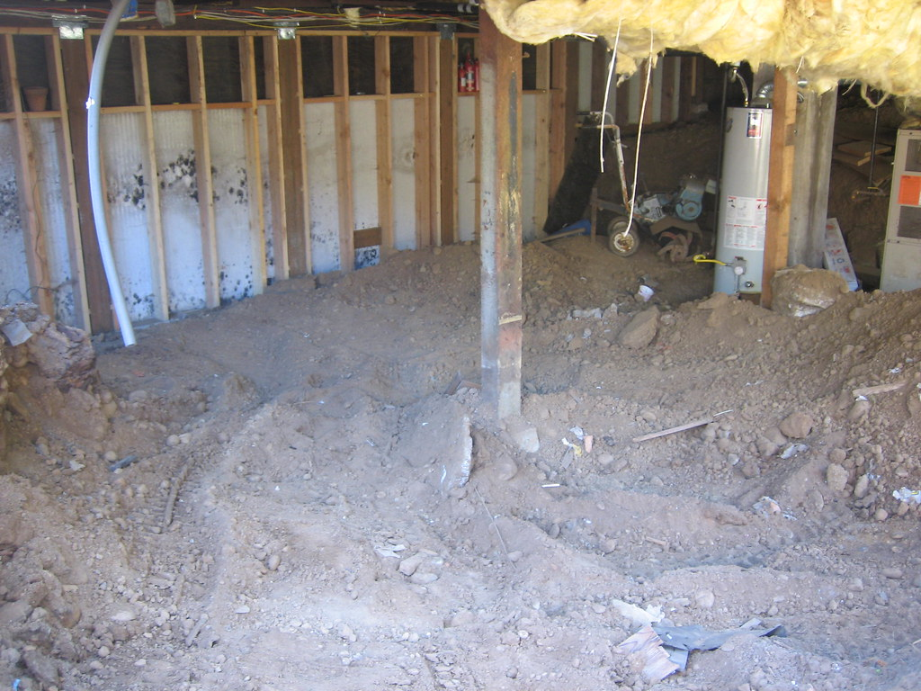 The basement, after much foundation repair was complete