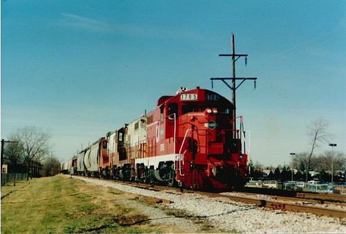 Eastbound Chicago, Central & Pacific freight train. North Riverside Illinois. December 1988. by Eddie from Chicago