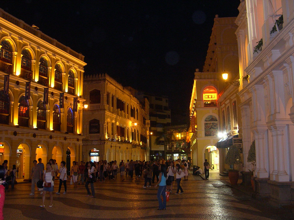 Macau square at night