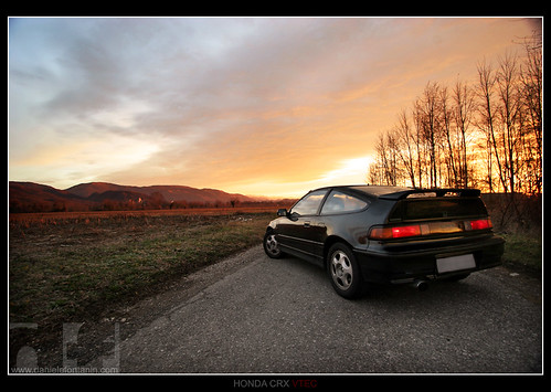 Honda CRX VTEC - back sunrise