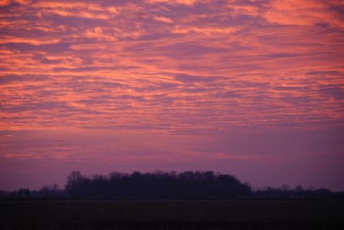 sunset clouds piqua