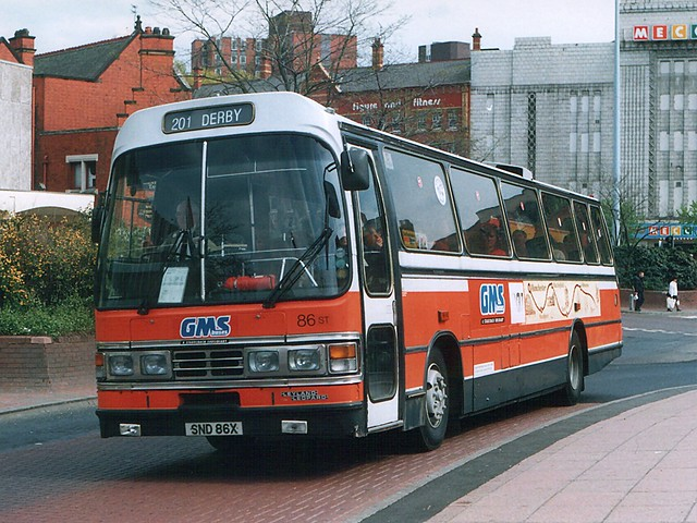 GMS Buses 86 SND86X, Stockport 30-5-96