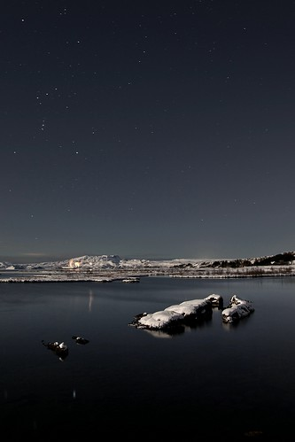 Orion over lake Þingvallavatn
