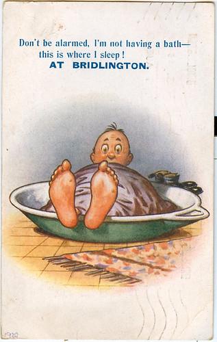 Postcard: Bridlington Bath 1920