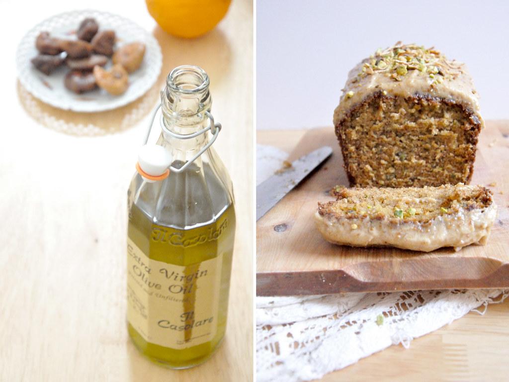 Mon g teau l 39 huile d 39 olive et aux pistaches gla age la figue blogs de cuisine - Gateau a l huile ...
