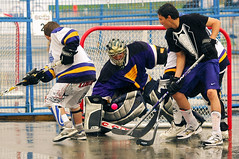 roller hockey(0.0), roller in-line hockey(0.0), ice hockey(0.0), floorball(0.0), ice hockey position(0.0), college ice hockey(0.0), box lacrosse(0.0), bandy(0.0), stick and ball games(1.0), ball hockey(1.0), sports(1.0), team sport(1.0), hockey(1.0), player(1.0), defenseman(1.0), ball game(1.0), athlete(1.0), team(1.0),
