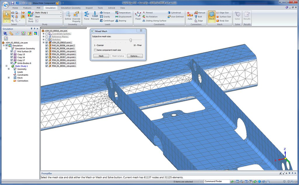 SolidEdge ST4 Solid Surface Mesh