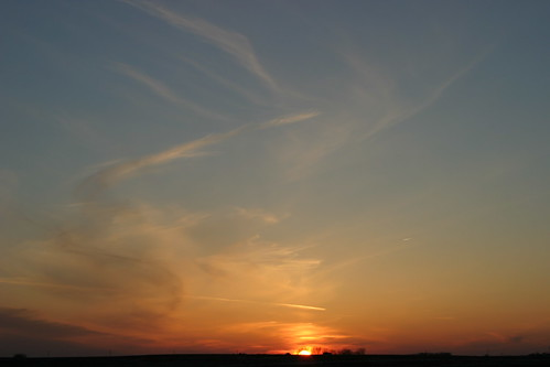 blue sunset sky orange clouds horizon iowa april markevans chimothy27
