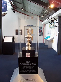The America's Cup at the National Maritime Museum in Auckland, New Zealand