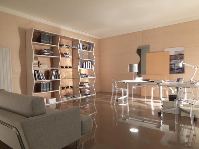 """Mazzali: """"MDay"""" bookcase / libreria """"MDay"""" . Living area"""
