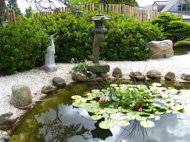 Zen garden with pond flickr photo sharing for Garden pool zen area