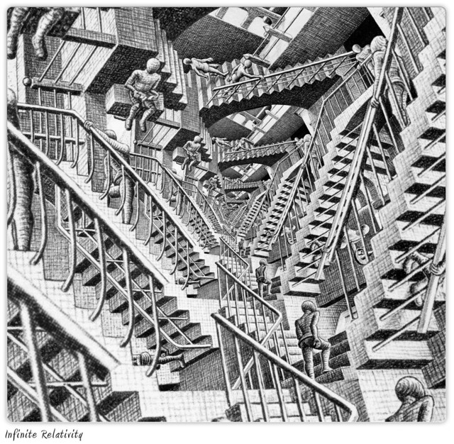 Escher's Infinite Relativity