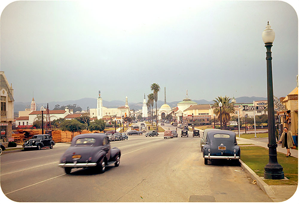 Westwood Village in Los Angeles, California in 1941