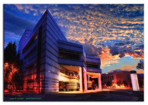 city morning blue light red arizona cloud southwest art museum clouds photoshop sunrise buildings landscape lights purple desert tucson library sony scenic sunrays reflexions soe hdr cs3 westerntown photomatix tonemapping tonemap hdrpool ultimateshot tucsonlibrary dslra350 dslr350 lgeof