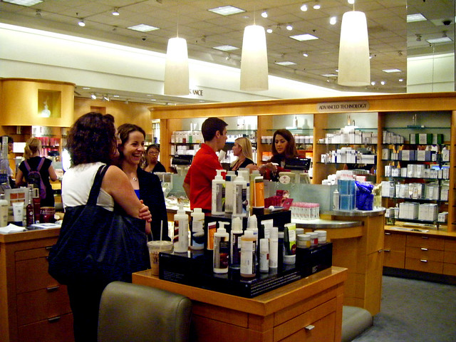 Nordstrom Fashion Valley Beauty Counter