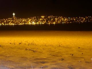 Image of Playa Grande de La Serena near La Serena. chile beach night noche coquimbo playa cruz