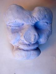 art, clay, sculpture, plaster, blue,
