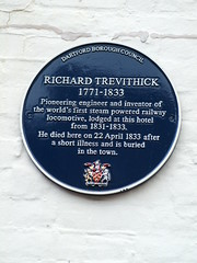 Photo of Richard Trevithick blue plaque