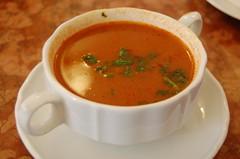 tarhana, tomato soup, bisque, food, dish, soup, cuisine,