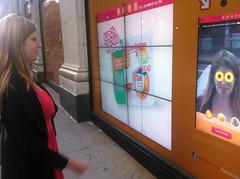 Lunchables Interactive Touchscreen Photo Display with Feeding America - Union Square - NYC