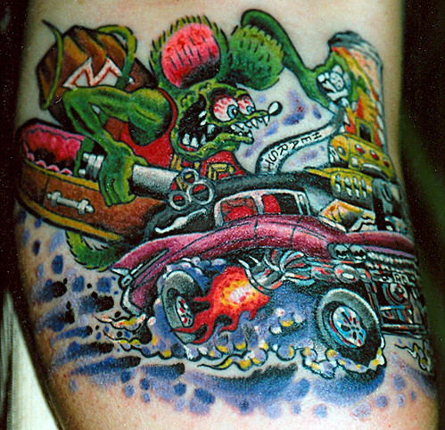 Hot rod monster a photo on flickriver for Hot rod tattoos