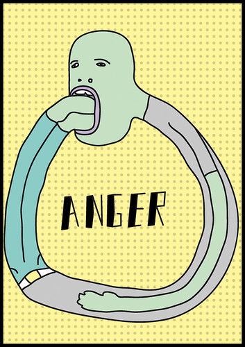 Drawing about anger
