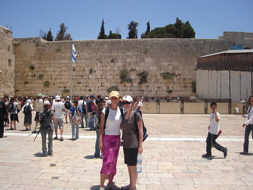 Myself and Sara in front of the western wall
