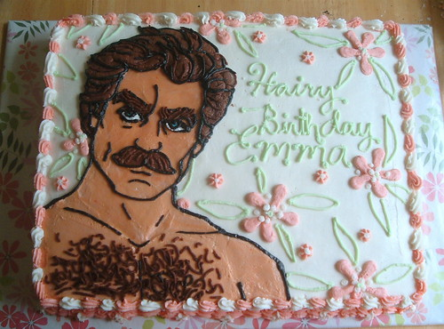 Tasty Tom Selleck Cake