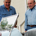 Jay Leno Visits Simeone Foundation Automotive Museum