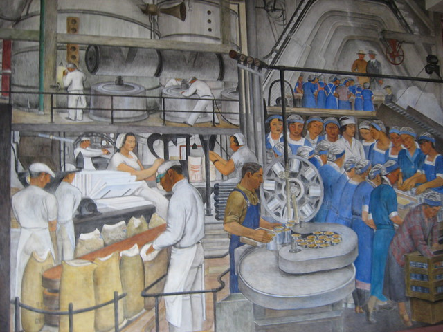 Coit tower murals explore nicola 39 s photos on flickr for Coit tower mural