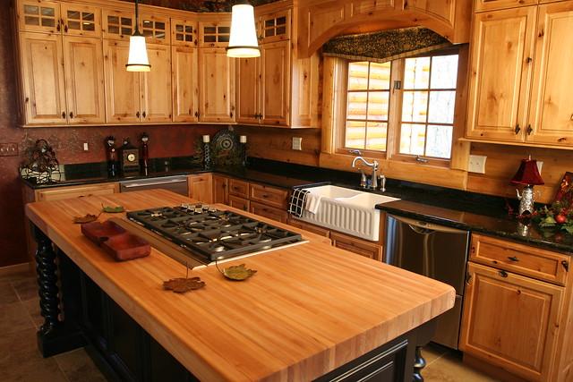 Log Cabin Kitchen By Golden Eagle Log Homes