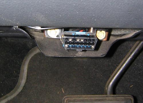 Engine diagnostic connector