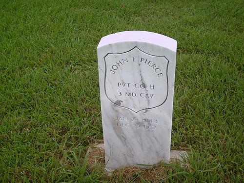 union maryland hobby civilwarveteran elmwoodcemetery coffeyvillekansas tombstonephoto johnfpierce coh3rdmdcavalry kansasvirtualcivilwarveterancemetery