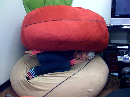 Between beanbags