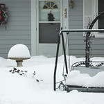 Bird Bath as Snow Gauge