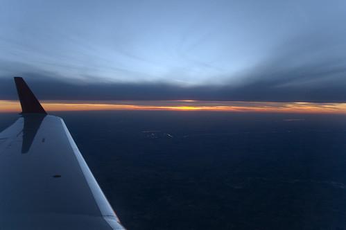sunset window jet regional crj canadair